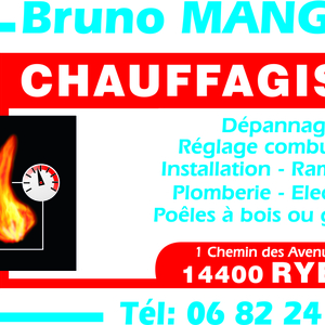 Mangon Bruno Ryes, Chauffagiste, Dépannage plomberie