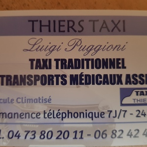 Thiers Taxi Thiers, Taxi